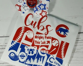 Cubs Girl Shirt - Chicago Cubs - Cubs Win - Chicago Cubs Shirt - Baby Chicago - Girl Chicago Cubs Shirt