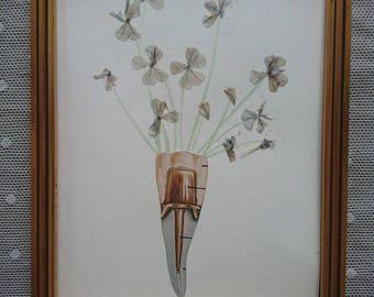 Unique dried flowers #MYOSOTIS # work art collages