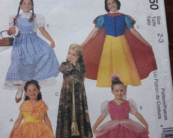 McCalls 2850 Girl's Classic Character Costumes Sewing Pattern