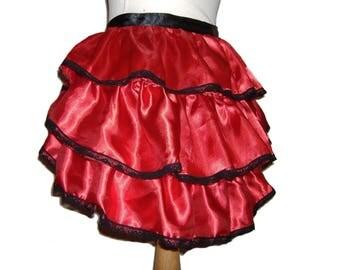 BURLESQUE BUSTLE SKIRT, tie on bustle skirt, gothic bustle skirt,  steampunk bustle skirt,  burlesque costume, burlesque pole dance,