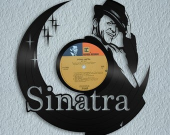 Romantic Wall Art, Frank Sinatra Wall Decor, Personalized Gift, 60s Art, Decorative Sign, Vinyl Record, Your Choice of Label, Perfect Gift