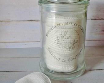 french glass jar, French label, Apothecary Jar, Vintage style, glass storage jar, apothecary jars, candy bar jars, candy buffet jar