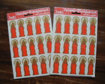 30 vintage candle window stickers