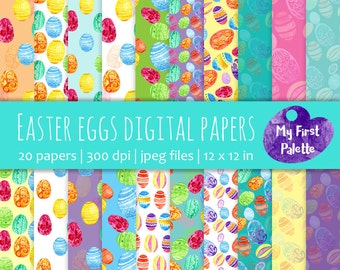 Easter gift wrapping etsy easter eggs digital paper easter gift wrap printable wrapping paper scrapbook paper negle Image collections
