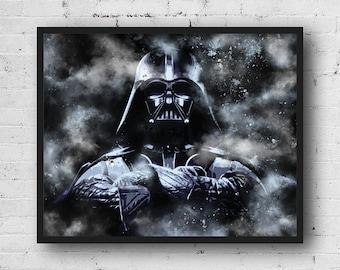 Darth Vader Star Wars Poster, Star Wars Poster, Darth Vader instant download, Star wars prin, Star wars, printable, Star wars art, Movie