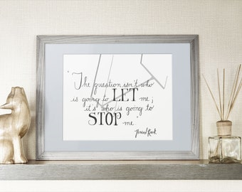 Atlas Shrugged Printable, 8x10 and 5x7 Printable, Ayn Rand quote, Literary Printable, Hand Lettered