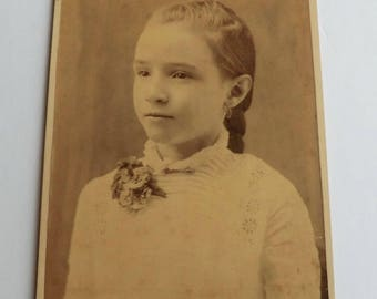 Cabinet Card Photo Pretty Girl Beautiful and Sweet Bertha Id'd
