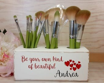 Makeup Brush Holder, Organizer, Personalized Brush Holder, Personalized Gift, Makeup, Pencil holder, Custom Gift for Her
