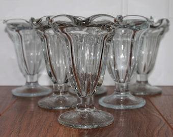 Vintage Ice Cream Glasses, Ice Cream Sundae Glass, Vintage Soda Glass, Listing for 1 Glass, Dessert Glass