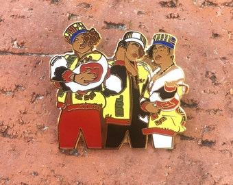 Salt-N-Pepa enamel pin