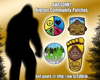All 4 Bigfoot Community Patches at a Discount!