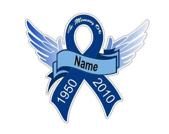 Personalized Colon Cancer Ribbon Decal