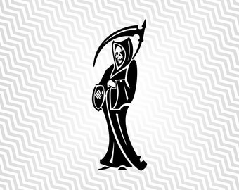 Grim Reaper Svg, Harvester, Cutout, Vector art, Cricut, Silhouette Cameo, die cut, instant download, Digital Cut, Print Files, Ai, Pdf, Svg