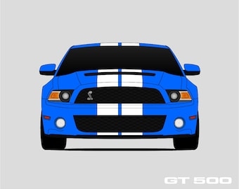 2010 2011 2012 Shelby GT500 Poster // Shelby Cobra // Shelby Mustang // Carroll Shelby // Mustang Poster // SVT Mustang