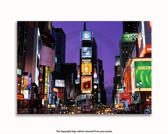 New York - Times Square At Night Poster