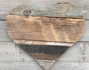 "Reclaimed Wood Heart 16"""