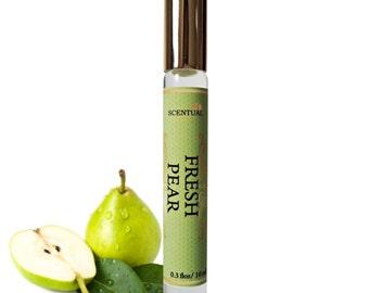 Organic Fresh Pear PERFUME Oil, Pear Perfume Roll On, Vegan Perfume, Natural Perfume Oil, Gift Idea