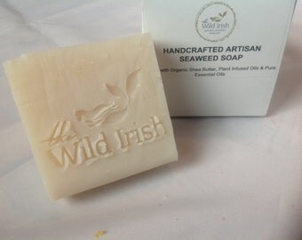 GENTLE COCONUT SOAP with Raw Organic Coconut pieces. Unscented. Vegan. No palm oil, artificial colours or scents.