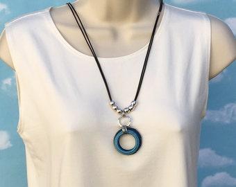 Pendant necklace.  One of a kind unique statement necklace modern