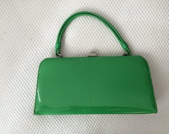 1970's green vinyl purse