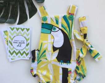 Tropical Toucan Romper