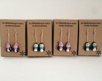 Penguin Christmas Earring