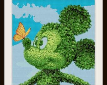 Mickey Mouse Cross Stitch Pattern - Mickey Mouse - Disney - PDF Download