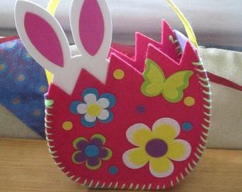 Easter Bag Bunny Handmade Felt