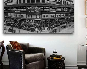 WRIGLEY FIELD 1935 Chicago Cubs Canvas Print - Large 36 x 24 North Side