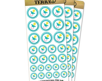 Baby Pacifier Removable Matte Sticker Sheets Set