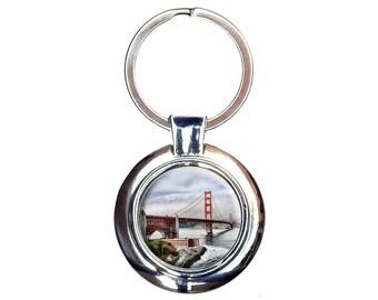 Golden Gate San Francisco Keychain Key Ring