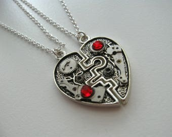 Steampunk jewelry Heart necklace Clockwork Steampunk Industrial Heart Pendant Gift Idea Bdsm jewelry Bdsm necklace