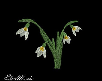 032 Snowdrops - Machine Embroidery Design