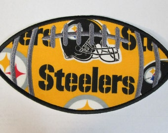 Steeler Football - Fabric Embroidered Applique Patch NFL Football Team Ready To Ship in 1-3 Business Days