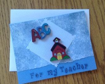 For my Teacher Handmade Card