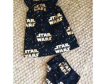 Star Wars set - top or dress & nappy cover