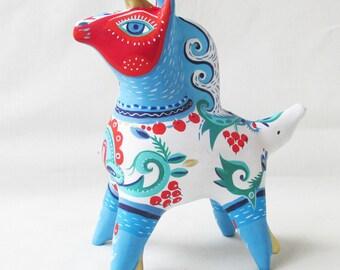 Noble unicorn whistle collectible art ceramic