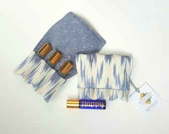 Essential Oil storage, small roller bottle case, essential oil case, essential oil travel pouch, essential oil pocket, essential oil gift