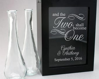 And the Two Shall Become One Unity Sand Ceremony Shadow Box Set (PS3917-JM3444322)
