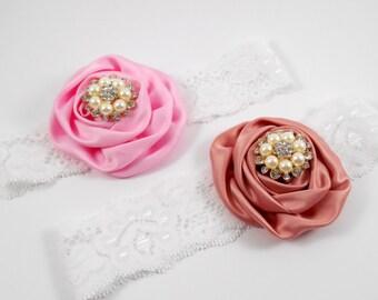 Pink and Shabby rose headbands baby Vintage style infant headband Newborn photography prop Newborn headband Girl headband