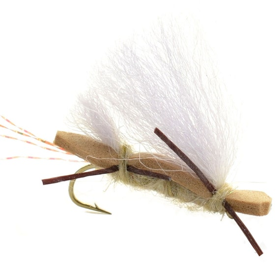 Hand Tied Trout Flies: Chubby Chernobyl Ant Dry Fly - Tan - Hook Size 10