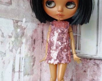 Blythe dress sequins, disco style