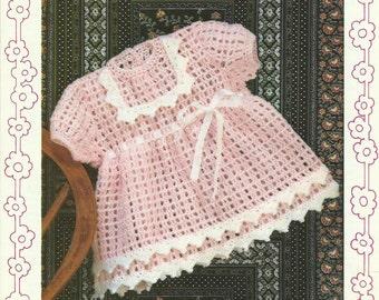 Vintage Childs Dress Crochet Pattern.