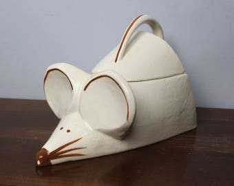 Vintage Ceramic Mouse Cookie Jar