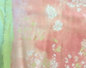 Nani Iro Double Gauze Fabric by the Yard, half yard, Pink Lei Nani, Floral Fabric, Fashion Fabric, Imported Japanese Apparel Sewing Supplies