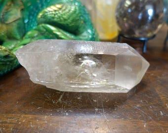 Large Natural Light Smoky Quartz Crystal Point from Brazil | Clear  Quartz Crystal Display | Healing Crystal | Mineral Specimen #36
