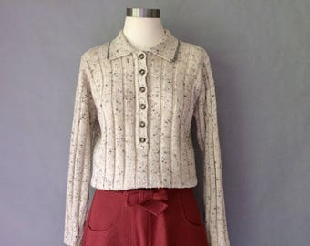 20% off using coupon! Vintage button down minimalist sweater women's size S/M