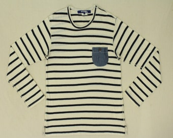 Junya Watanabe Comme Des Garcons Man Shirt Long Sleeve Pocket Shirt Striped Shirt
