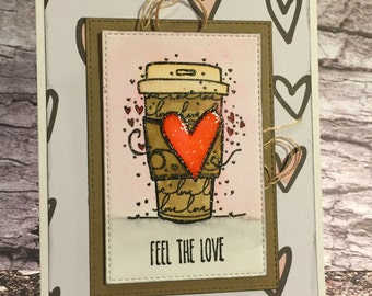 Handcrafted Greeting Card - Feel the Love (PAT-0029)