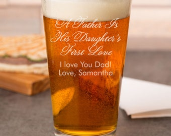 A Father Is His Daughter's First Love Engraved Pint Glass - Father's Day Gift - Birthday Gift - JM5714378-27